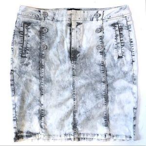 Nanette Lepore acid Wash Denim skirt
